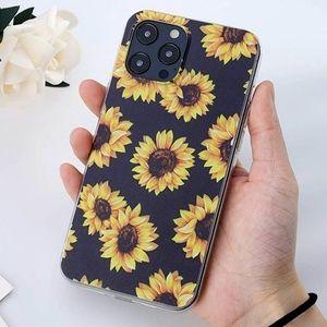 iPhone case Floral Sunflower Black
